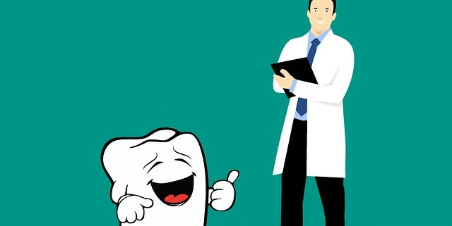 cartoon doctor and tooth